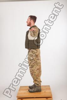 Soldier in American Army Military Uniform 0046