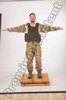 Soldier in American Army Military Uniform 0044