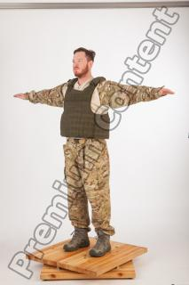 Soldier in American Army Military Uniform 0045