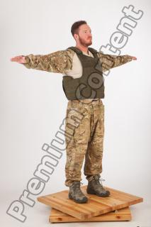 Soldier in American Army Military Uniform 0051