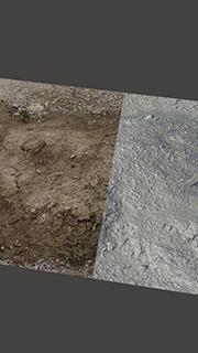 RAW 3D Scan of Pile Soil