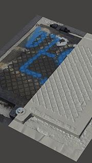 RAW 3D Scan of Manhole Cover #15