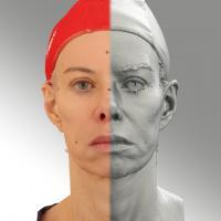 3D head scan of neutral emotion - Bolard