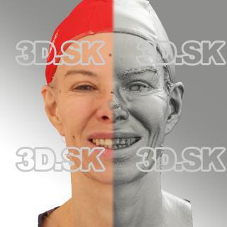 3D head scan of smiling emotion - Bolard
