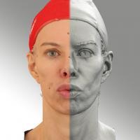 3D head scan of O phoneme - Bolard