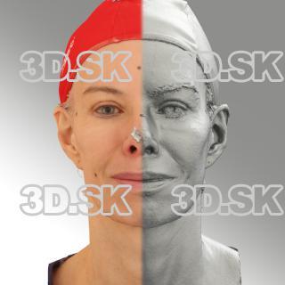 3D head scan of natural smiling emotion - Bolard