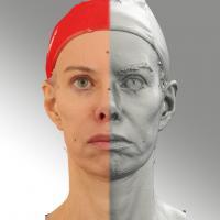 3D head scan of Sad - Bolard