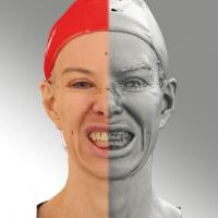3D head scan of Lips Open Teeth - Bolard