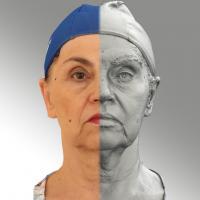 3D head scan of neutral emotion - Blanka