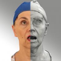 3D head scan of looking up emotion - Blanka