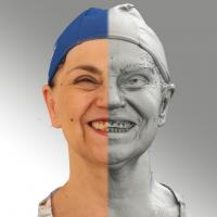 3D head scan of smiling emotion - Blanka