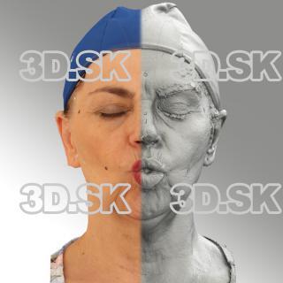 3D head scan of O phoneme - Blanka