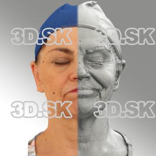 3D head scan of sneer emotion left -