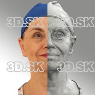 3D head scan of natural smiling emotion - Blanka