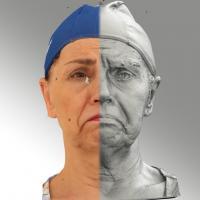 3D head scan of Blanka 14 Sad - Blanka