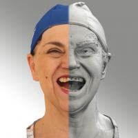 3D head scan of Mouth Wide Open - Blanka