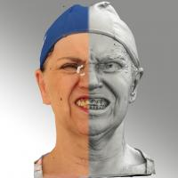 3D head scan of Blanka 13 Lips Open Teeth - Blanka