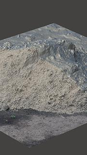 RAW 3D Scan of Pile Sand