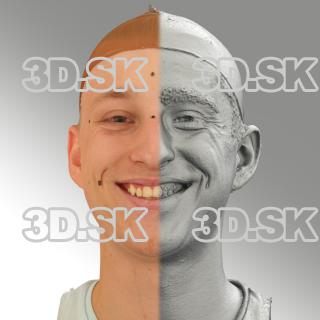 head scan of smiling emotion - Dominik 04