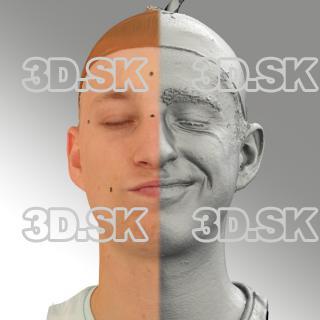 head scan of sneer emotion left - Dominik 07
