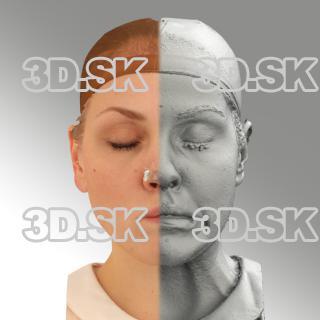 head scan of sneer emotion left - Simona 07