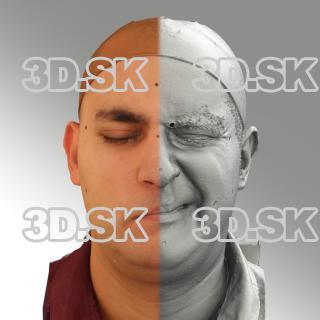 head scan of sneer emotion left - Victor 07