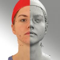 head scan of neutral emotion - Tatiana 01