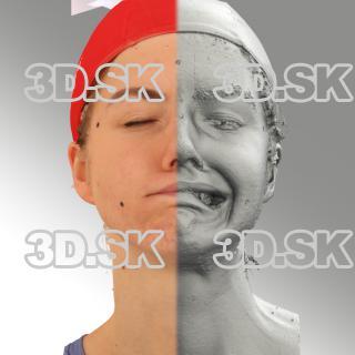 head scan of sneer emotion left - Tatiana 07