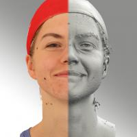 head scan of natural smiling emotion - Tatiana 03