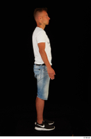 Basil black sneakers jeans shorts standing white t shirt whole body 0007.jpg