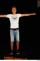 Basil black sneakers jeans shorts standing t-pose white t shirt whole body 0001.jpg