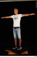 Basil black sneakers jeans shorts standing t-pose white t shirt whole body 0002.jpg