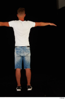 Basil black sneakers jeans shorts standing t-pose white t shirt whole body 0005.jpg