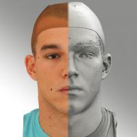head scan of neutral emotion - Jakub 01