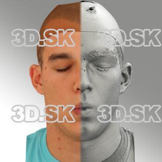 head scan of O phoneme - Jakub 06
