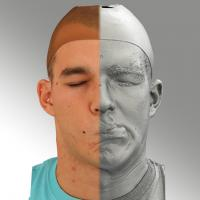 head scan of sneer emotion left - Jakub 07