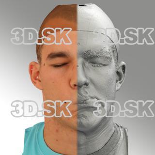 head scan of sneer emotion left - Jakub 07
