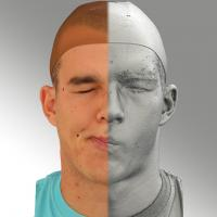 head scan of sneer emotion right - Jakub 08