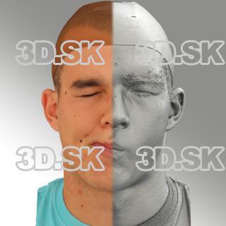 head scan of sneer emotion right - Jakub 08