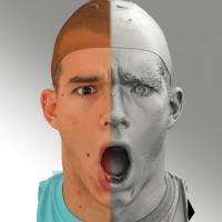head scan of sneer emotion - Jakub 09