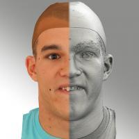 head scan of sneer emotion - Jakub 11