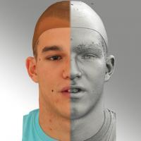 head scan of sneer emotion - Jakub 12