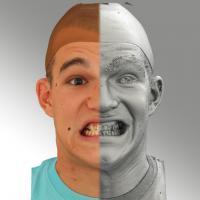 head scan of sneer emotion - Jakub 13