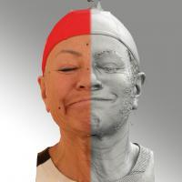 head scan of sneer emotion right - Miroslava 08