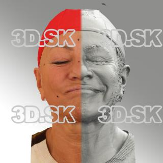 head scan of sneer emotion left - Miroslava 07