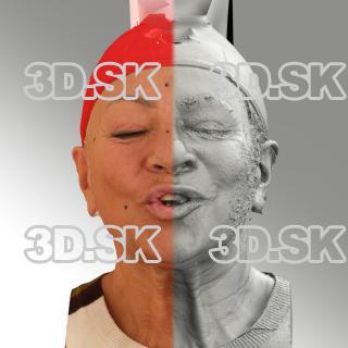 head scan of O phoneme - Miroslava 06