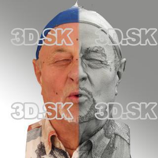 head scan of O phoneme - Milan 06