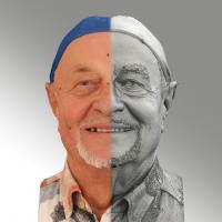 head scan of smiling emotion - Milan 04