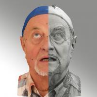 head scan of looking up emotion - Milan 02