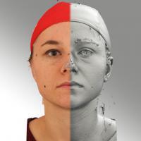 head scan of neutral emotion - Ludmila 01
